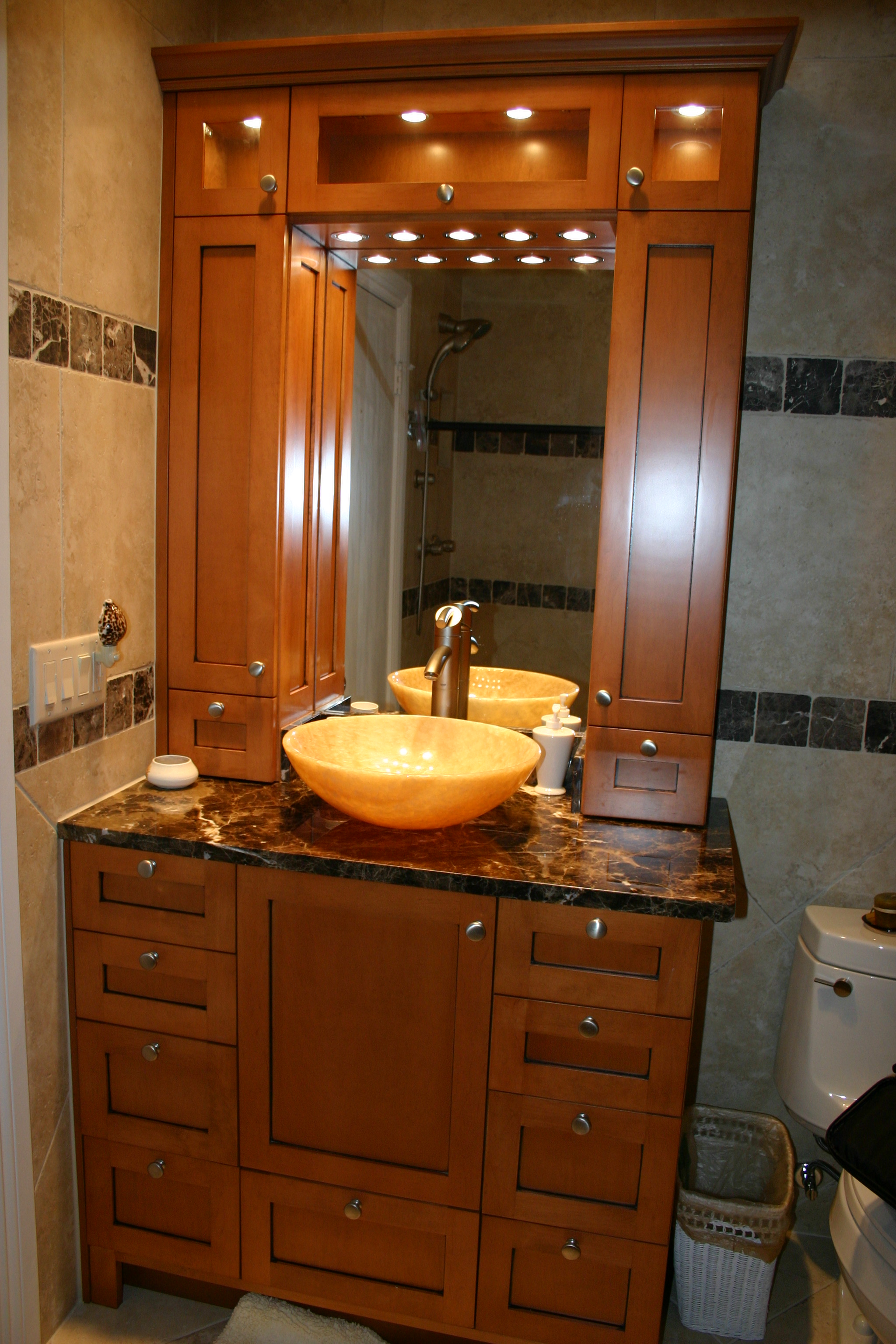 bathroom cabinets cabinet bellingham custom